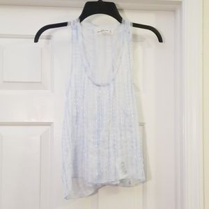 Sheer Beaded Tank Abercrombie & Fitch